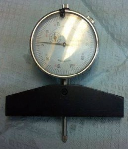 "#12-438 4"" Base w/ 1"" Dial Indicator for checking depth of piston and head"